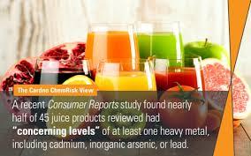 heavy metals in fruit juice